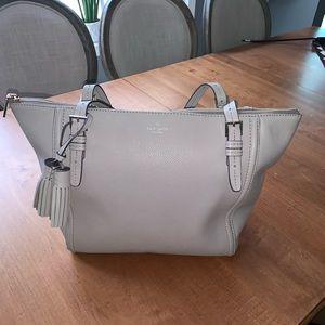 Large Kate Spade taupe tote bag
